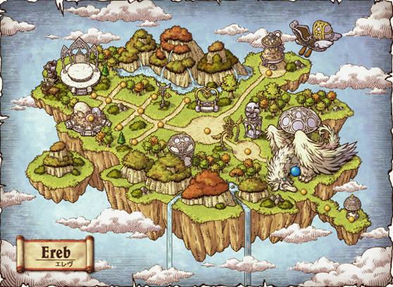 エレヴ島のワールドマップ
